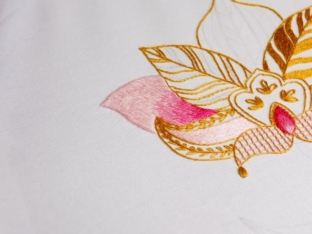 Henna embroidery design