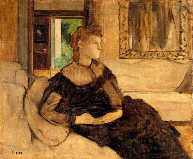 Эдгар Дега - Мадам Теодора Гобийяр (1869)