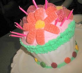 girl birthday cupcake cake