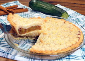 lifting first slice out of sweet zucchini pie