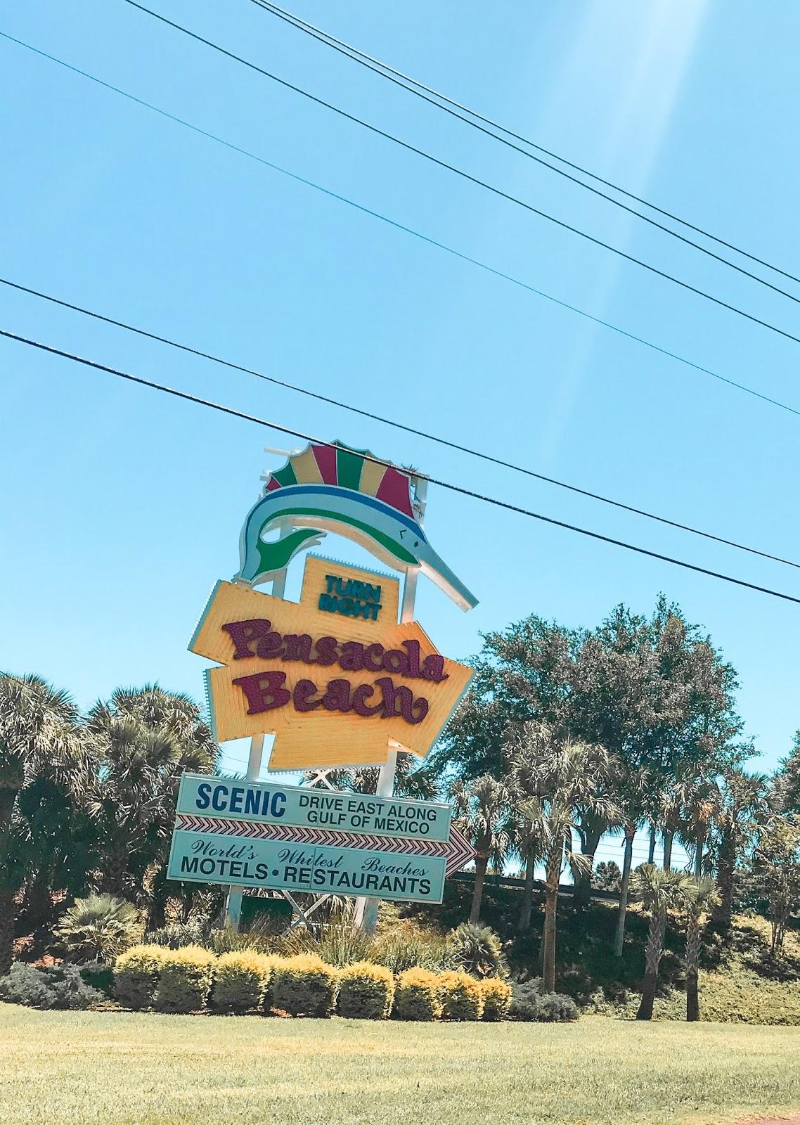 Pensacola Beach Road Sign