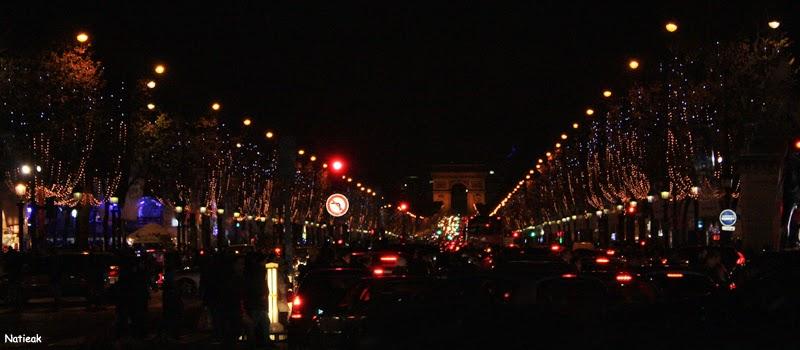 Paris de nuit Champs-Elysées