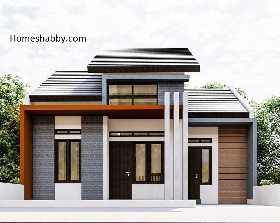 Desain Dan Denah Rumah Ukuran 8 5 X 13 M Terlihat Seperti Rumah Mezzanine Dengan 3 Kamar Tidur Homeshabby Com Design Home Plans Home Decorating And Interior Design