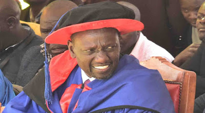Deputy President William Ruto gowned.