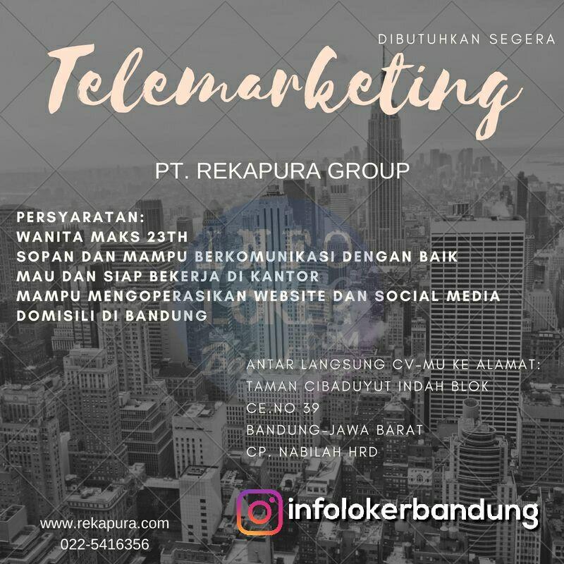 Lowongan PT. Rekapura Group Bandung Maret 2018