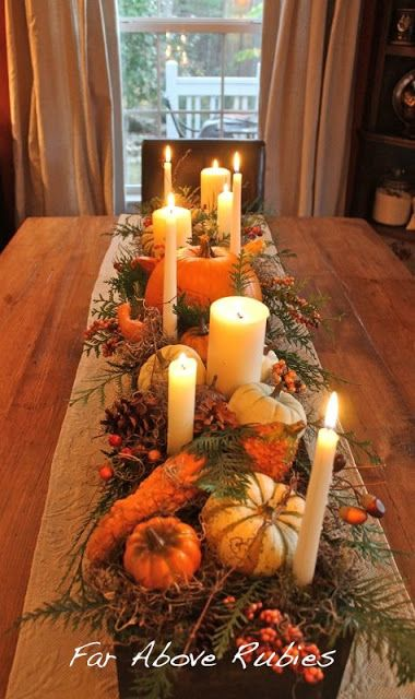 Thanksgiving tablescapes girl meets bow - Interesting tables capes for christmas providing cozy gathering space ...
