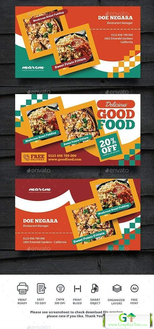 Restaurant Promotion Business Card 28004020