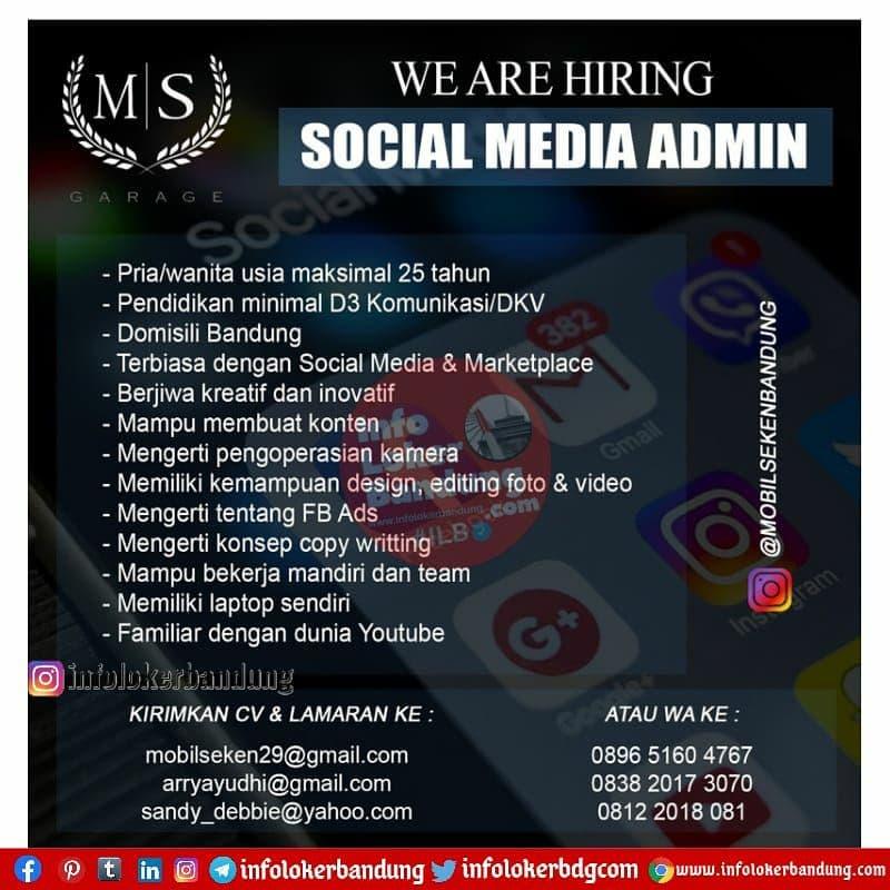 Lowongan Kerja Social Media Admin Mobil Seken Bandung April 2021