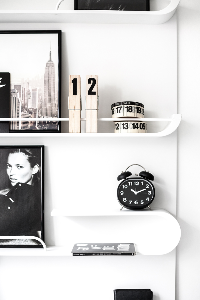 Rafa-kids XL shelf in cosy Black&White