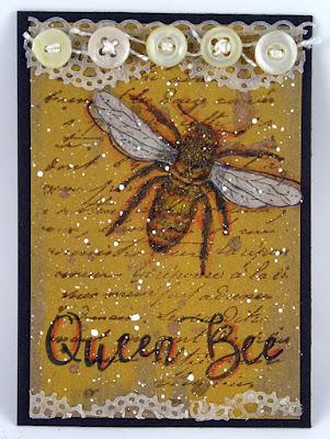 Darkroom Door Buzzing Bees Rubber Stamp Set
