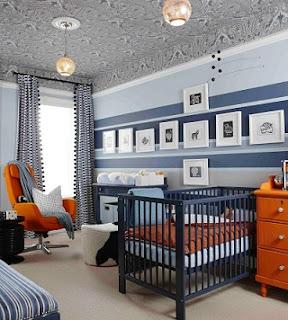 cuarto para bebé azul