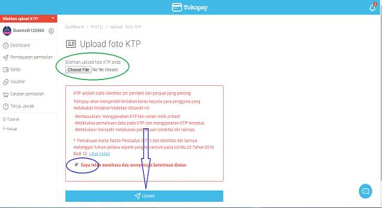 Verifikasi Akun Tokopay dengan KTP Identitas Resmi anda