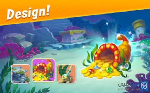 تحميل لعبة Fishdom مهكرة للاندرويد اخر اصدار