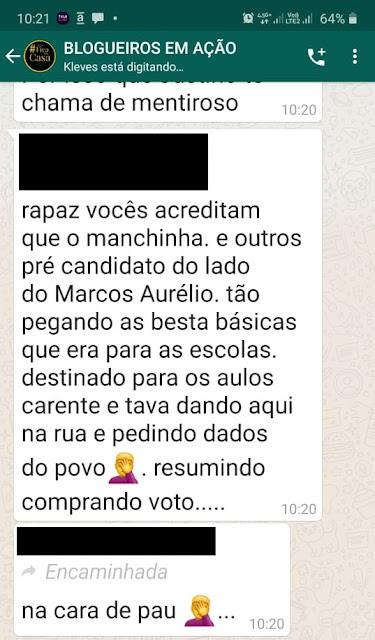 BOMBA! BOMBA! Pré-candidatos a vereadores do grupo do pré-candidato a prefeito Marco Aurélio, estão distribuindo cestas básicas compradas com dinheiro público!!!