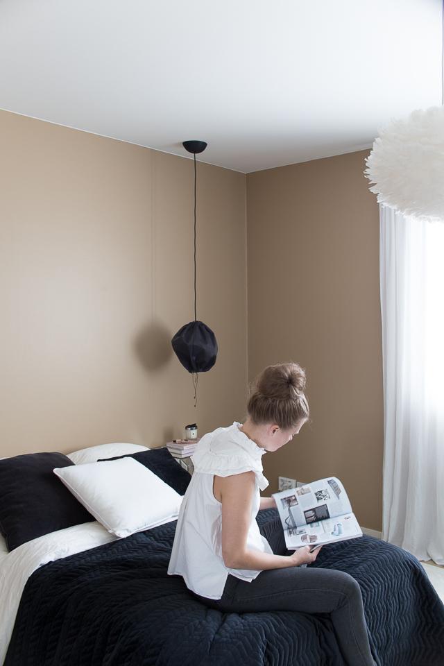 Villa H, sisustus, makuuhuone, makuuhuoneen sisustus, oma tyyli