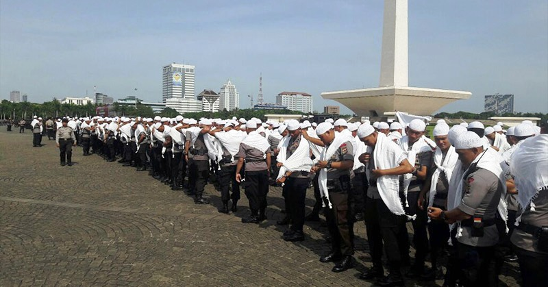 Demonstran Sudah Tiba Di Kawasan Istana Negara, Aparat Keamanan Gemakan Asma'ul Husna - Commando