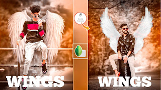 SNAPSEED WINGS BOY PHOTO EDITING TUTORIAL || DOWNLOAD WINGS PNG BACKGROUND