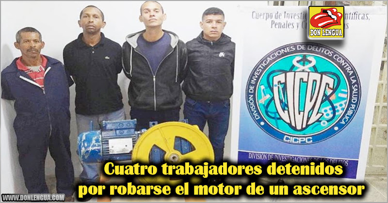 Cuatro trabajadores detenidos por robarse el motor de un ascensor