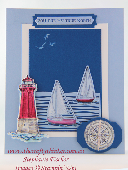 #thecraftythinker #comesailaway #stampinup #cardmaking #rubberstamping , Come Sail Away Bundle, Lakeside dies, Masculine card, Stampin' Up Australia Demonstrator, Stephanie Fischer, Sydney NSW