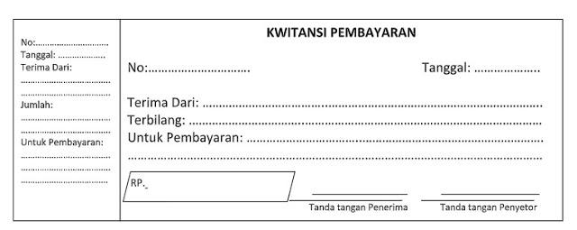 Download Kwitansi Kosong Berbagai Format (GRATIS)