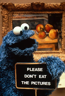 DVD cover for Sesame Street's Movie Don't Eat the Pictures