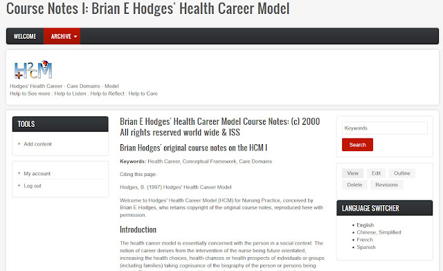 Hodges' model - drafting website text