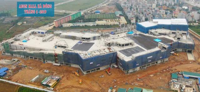 Đại siêu thị Aeon Mall Hà Đông cạnh dự án
