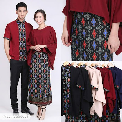batik couple modern, baju batik couple sarimbit, couple sarimbit 2020, couple kebaya kutu baru 2020