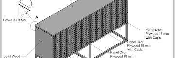 Shop Drawing Credenza Set Dimension H 100cm x W 180cm x 45 cm