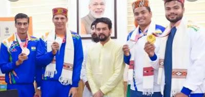 19 পদক জয়ী প্যারা অলিম্পিকের ভারতীয় দলকে সংবর্ধনা ক্রীড়া মন্ত্রকের
