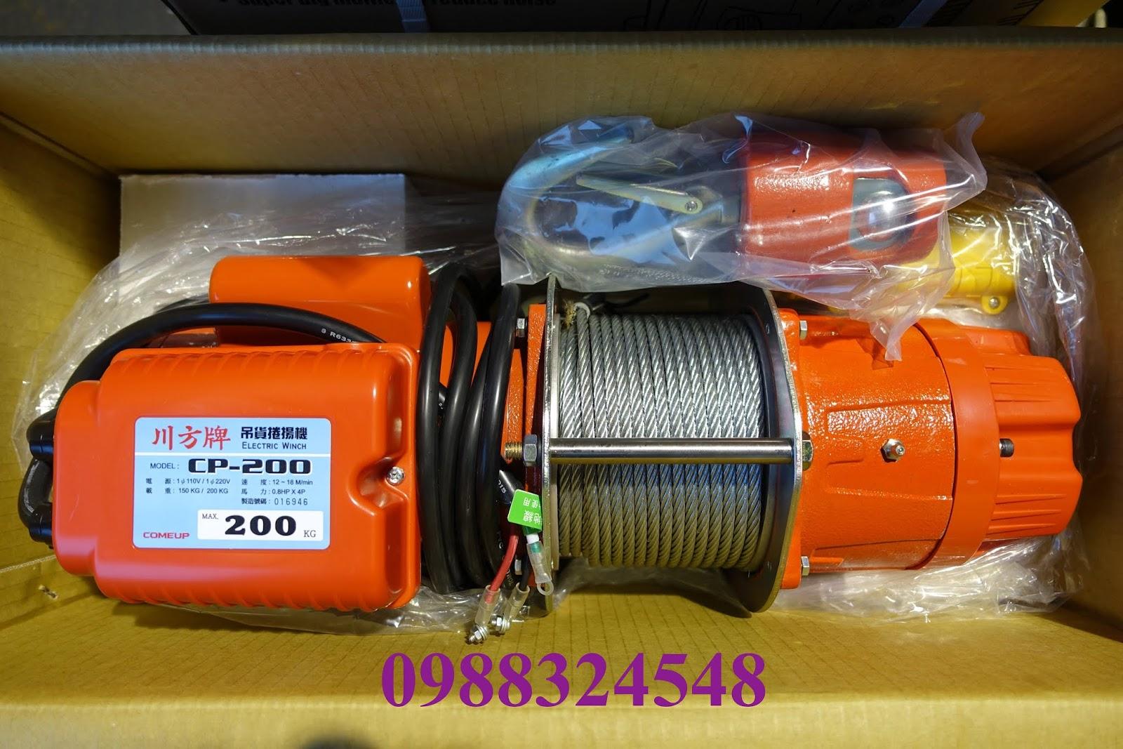 Tời cáp điện Comeup CP200