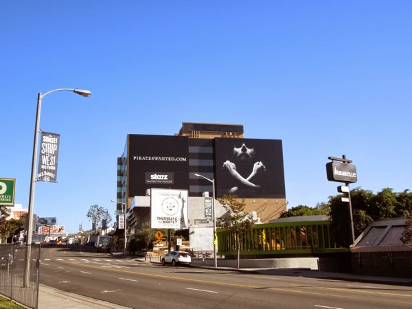 Giant Pirates Wanted Black Sails teaser billboard Sunset Strip