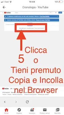 5. visualizzare propri commenti youtube app iphone android_risultato