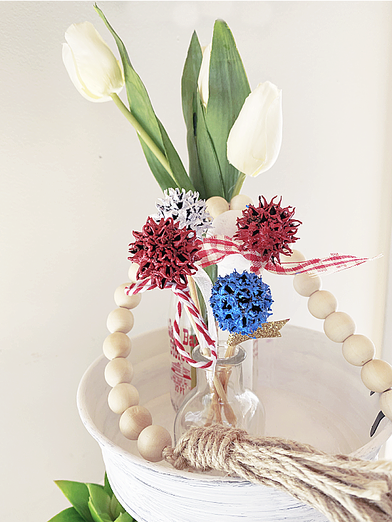 tiered tray decorations for the Fourth