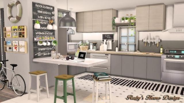 Cocina de una casa de los sims 4