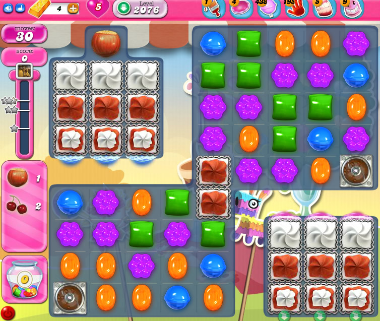 Candy Crush Saga level 2076