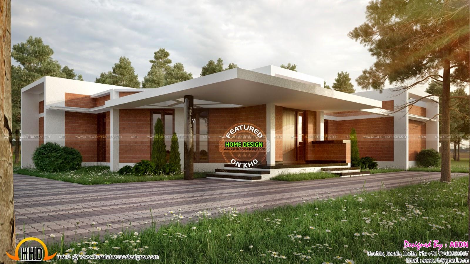 Clay Brick Home Design Kerala Home Design And Floor Plans