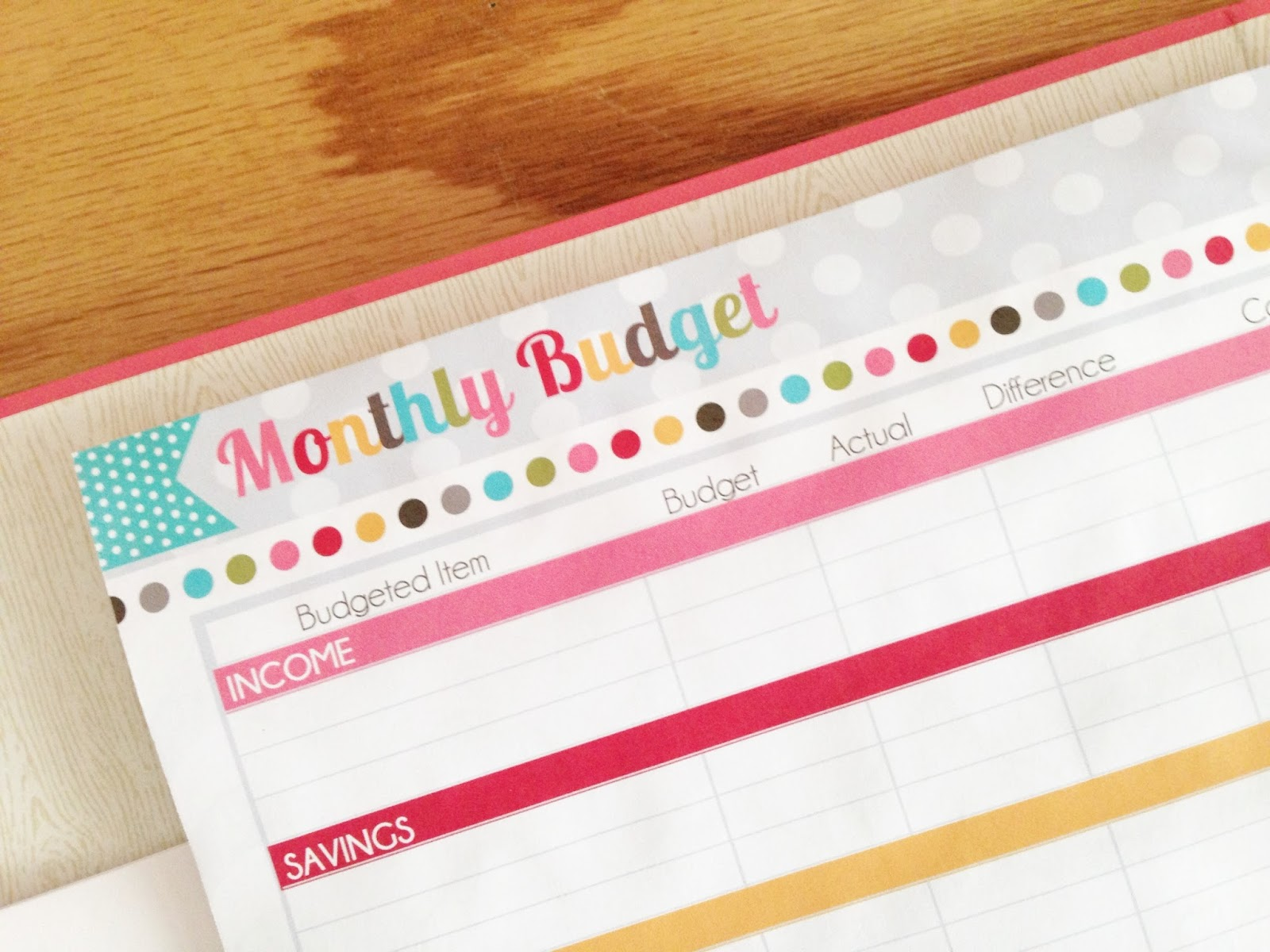 The Polka Dot Posie Month 1 Creating A Budget Planner Amp Making It Work For You