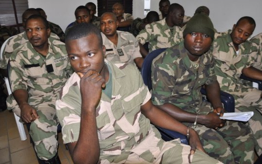 nigerian soldiers sentenced death pardoned