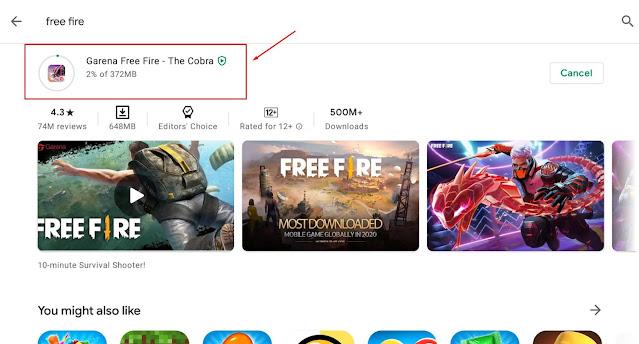 size update Free Fire Patch Cobra