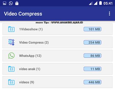 langkah perkecil video di smartphone