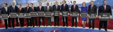 The usual Republican suspects - 2016 primary debate
