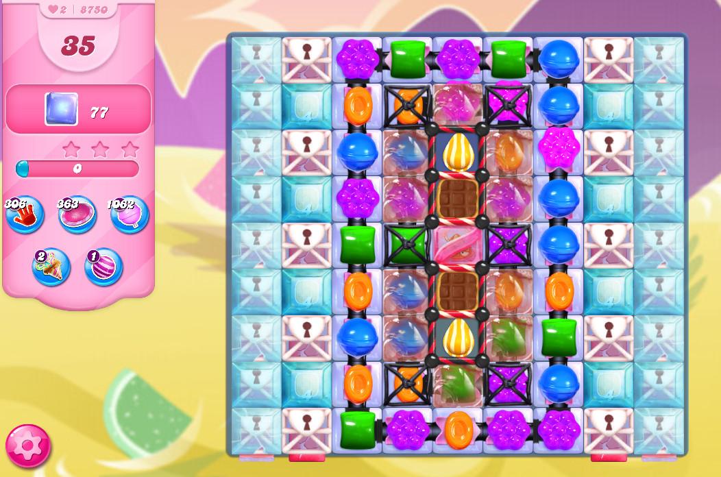 Candy Crush Saga level 8750