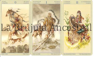 Loco - Mago - Sacerdotisa del Tarot de los Nativos Americanos