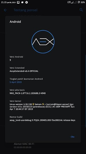 Install AEX aosp V6.4 pie Redmi 3s