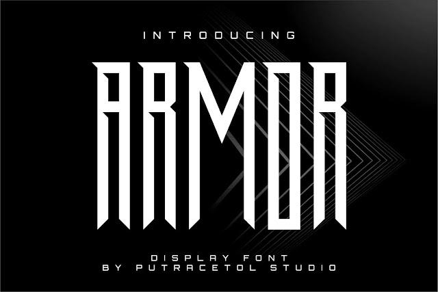 Шрифт ARMOR (латиница)