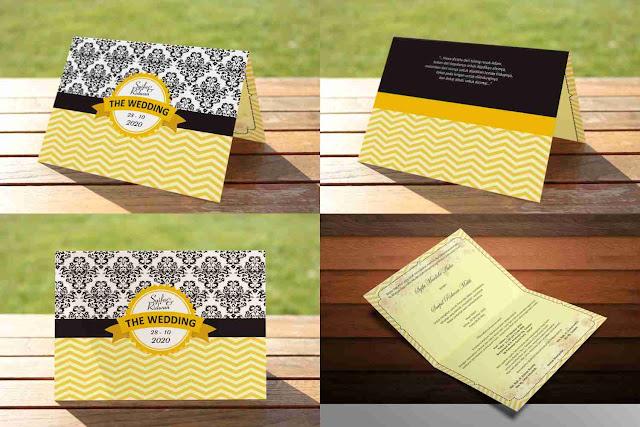 Download Template Desain Undangan Pernikahan Simple dan Elegan