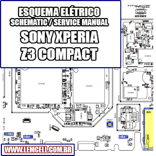Layout de Placa Pcb Celular / Smartphone Sony Xperia Z3 Compact D5803 D5833    Layout Board Cell Phone Smartphone Celular Sony Xperia Z3 Compact D5803 D5833      Mapa Board Celular Sony Xperia Z Ultra C6802 C6806 C6833 C6843 XL39H