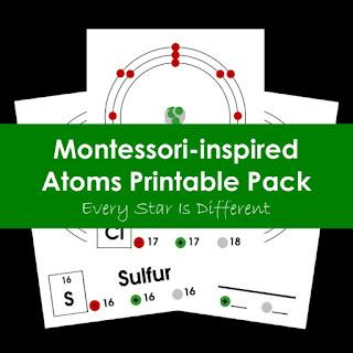 Montessori-inspired Atoms Printable Pack