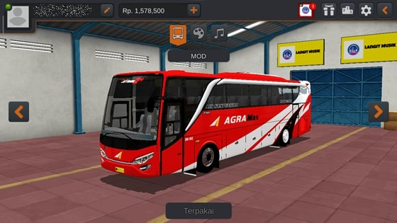 Livery JBHD2 New Setra MD Creation Agra Mas